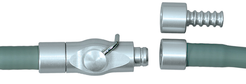 Inline cut-off valve